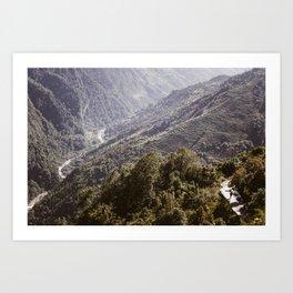 Himayala Hike Art Print