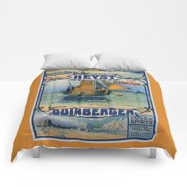 Antique travel fishing boat Heist Duinbergen Comforters