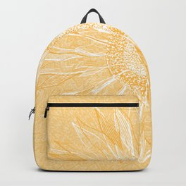 Mandala, Sunflower Prints, Yellow Backpack