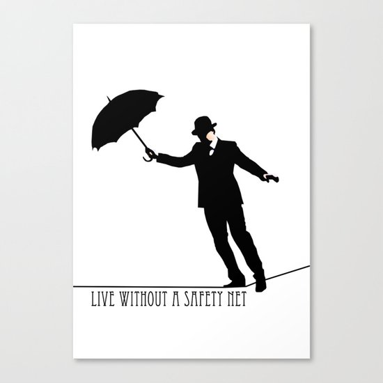 no safety net Canvas Print
