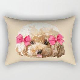 Baby Poodle Rectangular Pillow