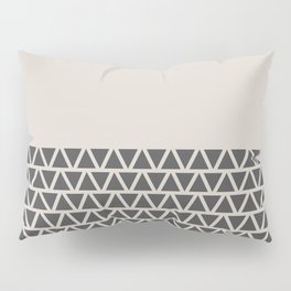 Triangles half Pattern (Black, Cream) Pillow Sham