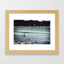 Longboard Pier Framed Art Print