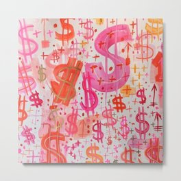 Barbie Money Metal Print