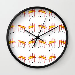melody 3-music,melody, mark, music notation,fun, solfeggio, pleasure, rythm, dance, art Wall Clock