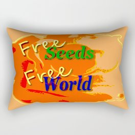 Our right for a free and healthy world Rectangular Pillow