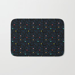 Pac-Man Retro Arcade Video Game Pattern Design Bath Mat
