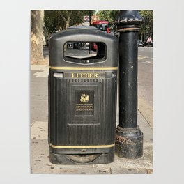 London litter / garbage Poster