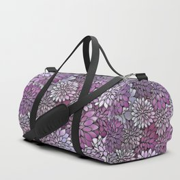 Stain Glass Floral Abstract - Purple-Lavender Duffle Bag