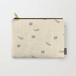 Cancer Pattern - Beige Carry-All Pouch