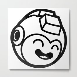Megaman Head Metal Print
