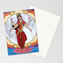 Lakshmi: Dancing by the Light of the Moon Stationery Cards