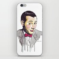 pee wee iPhone & iPod Skins featuring Pee Wee by Jesse Robinson Williams