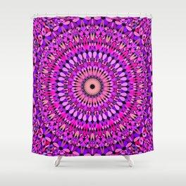 Pink and Purple Gravel Mandala Shower Curtain