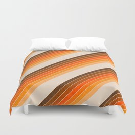 Tan Candy Stripe Duvet Cover