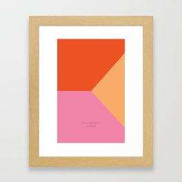 pink - all Framed Art Print