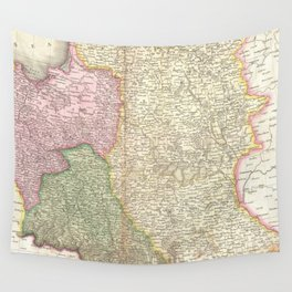 Vintage Map of Poland (1818) Wall Tapestry
