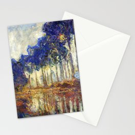 Poplars on the Bank of the Epte River by Claude Monet Stationery Cards