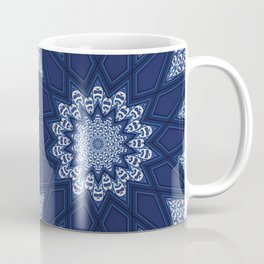 Navy and White Coffee Mug
