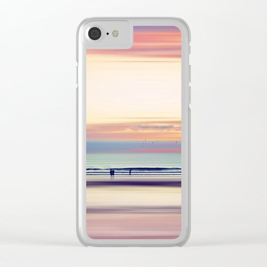 Pastel Horizons Clear iPhone Case