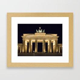 Brandenburg Gate At Night Framed Art Print