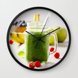 green smoothie Wall Clock