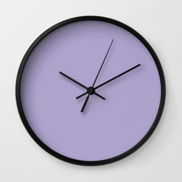 Pastel Purple Solid Color Pantone Lavender 15-3817 Accent to Color of the Year 2021 Wall Clock