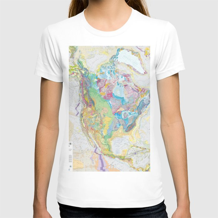 USGS Geological Map Of North America T-shirt
