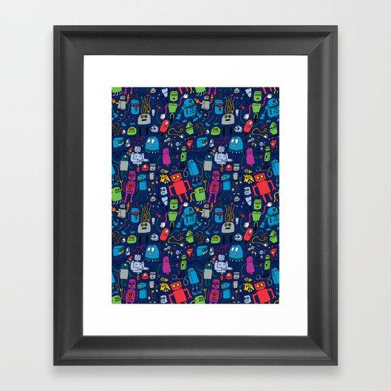 Robots Forever! Framed Art Print