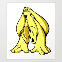 Monsterbun Yellow Art Print