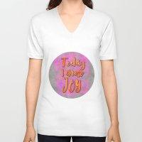 olivia joy V-neck T-shirts featuring Joy    by LebensART