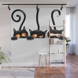Cool hidden cats design Wall Mural