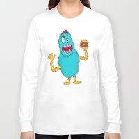 hamburger Long Sleeve T-shirts featuring Hamburger! by Chelsea Herrick