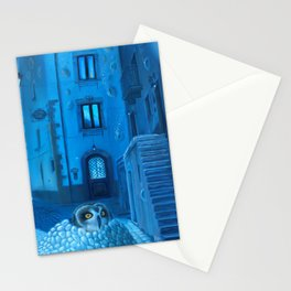 Will the night ever fall down? Stationery Cards