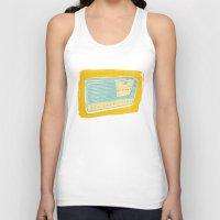 transistor Tank Tops featuring Radio II by Brooke Elizabeth