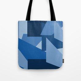 Blu-Geometric Tote Bag