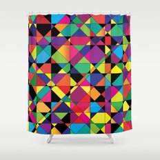 Abstract shapes Shower Curtain
