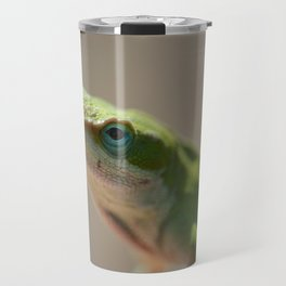 Portrait of a Green Anole Travel Mug