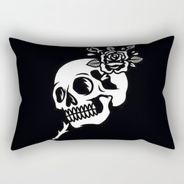 Tattoos style skull and flower Rectangular Pillow
