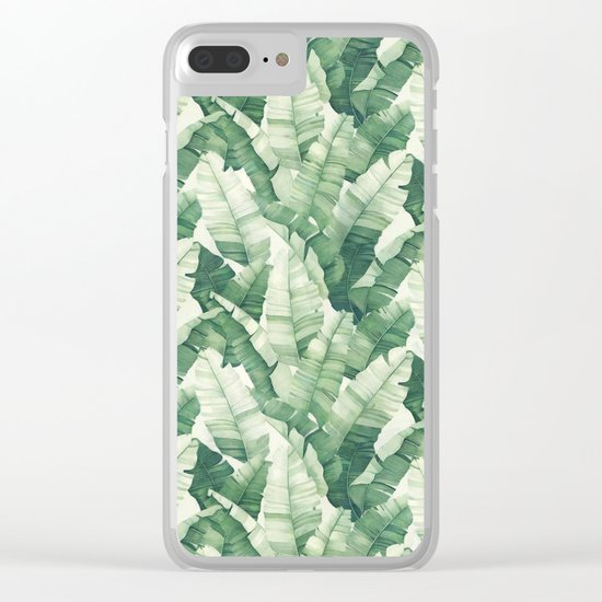 Banana leaves II Clear iPhone Case