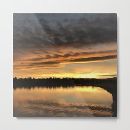 Lake Arbor Sunset Metal Print