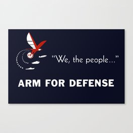 We The People Arm For Defense Canvas Print
