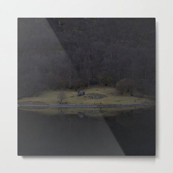 Violet island (Fjord) Metal Print