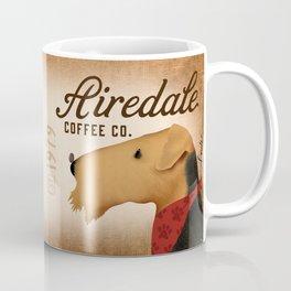 Airedale dog Coffee company by Stephen Fowler Coffee Mug