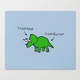 Triceratops Tricerabottom Canvas Print