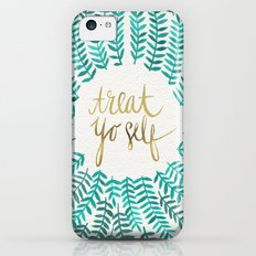 Treat Yo Self – Gold & Turquoise iPhone 5c Slim Case