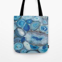 Ivanna Gogh blue quartz geodes surplus Tote Bag