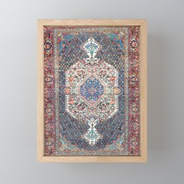 Bakhtiari Central Persian Rug Print Framed Mini Art Print