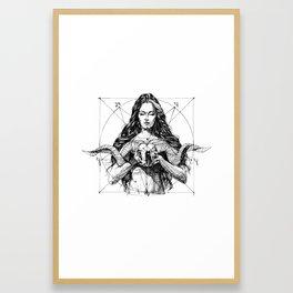 Lady with Skull. Yury Fadeev. Framed Art Print