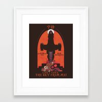 propaganda Framed Art Prints featuring Browncoat Propaganda by Hillary White